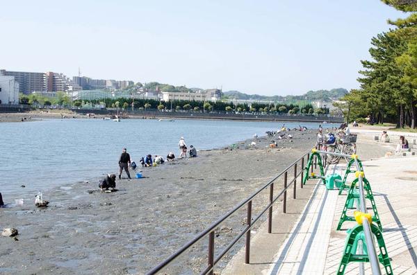 海辺のバーベキュー場