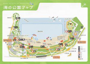 海の公園のマップ地図